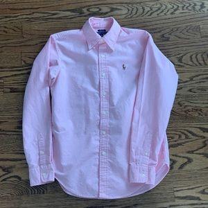 Polo Pink Button Down - Size 6